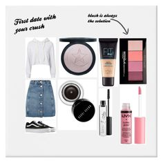 """First date with your crush"" by style-queenxoxo on Polyvore featuring Monrow, Topshop, Vans, Bobbi Brown Cosmetics, Maybelline, MAC Cosmetics, Charlotte Russe and first"