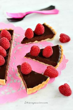Tarte au chocolat fondant_crostata