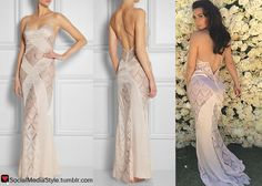 Buy Kim Kardashian's slip that she wore in front of her Mother's Day rose wall, here!
