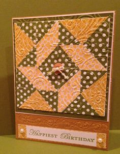 Quilted card