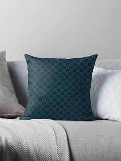 Gift for Blue Color Lovers • Millions of unique designs by independent artists. Find your thing. Triangular Pattern, Dark Blue Background, Dark Blue Color, Designer Throw Pillows, Pillow Design, Pattern Wallpaper, Midnight Blue, Textures Patterns, Artists