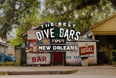 New Orleans' Essential Dive Bars - Thrillist New Orleans Vacation, New Orleans Travel, New Orleans Bars, Dive Bar, Vacation Trips, Vacations, Nola Vacation, Vacation Ideas, Koh Tao