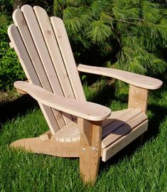 These simple and functional adirondack chairs plans are affordable, colorful and especially easy to build with these detailed ideas and video from Lowe's. These free Adirondack chair plans will help you build a great looking chair in just a few hours, Bui Woodworking Furniture Plans, Woodworking Projects Diy, Wood Adirondack Chairs, Outdoor Chairs, Wooden Lawn Chairs, Plastic Patio Chairs, Rustic Furniture, Outdoor Furniture, Yard Furniture