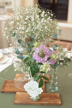 ゲスト卓2 Floral Wedding, Wedding Flowers, Welcome Flowers, Australian Flowers, Centerpieces, Table Decorations, Wedding Images, Wedding Ideas, Table Flowers