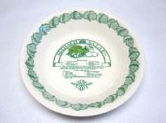 Recipe Salad Bowl Dish Royal China Spinach Green White Decorative Serving. Pie PlateDecorative ... & Himark Golden Pie Peach Recipe Pie Bakers Pie Plate with Peach Pie ...