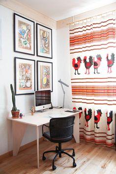 Casinha colorida: Muita criatividade para compensar o pouquíssimo espaco