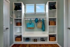 Superb Mudroom & Entryway Design Ideas with Benches and Storage Lockers (PICTURES) - unique and beautiful home design photo galleries Entryway Cabinet, Entryway Furniture, Cabinet Doors, Entryway Ideas, Hallway Ideas, Narrow Entryway, Storage Bench Seating, Bench With Storage, Cubby Storage