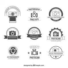 Emblemas fotografia Retro Vetor grátis                                                                                                                                                     Mais