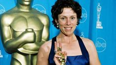 """With her victories at the Golden Globes, Critics' Choice, and SAG Awards, Frances McDormand (""""Three Billboards Outside Ebbing Missouri"""") has officially become the frontrunner with… Best Actress Oscar, Watch News, Nicolas Cage, Critics Choice, Sag Awards, Golden Globes, Billboard, Missouri, Victorious"""
