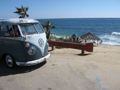 VW bus and beach.. yes!
