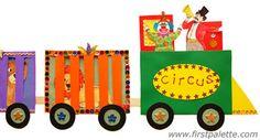 u is for unicycle - circus theme, Circus Train craft Preschool Circus, Circus Activities, Preschool Activities, Kids Wall Murals, Murals For Kids, Circus Train, Circus Theme, Circus Art, Fun Crafts For Kids