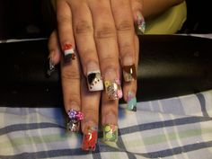 3D Design with clay and fabric - Nail Art Gallery