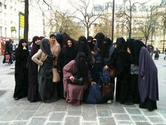 If I went out with this many niqab's I'd surely like to see ignorant fools try to make fun of us!