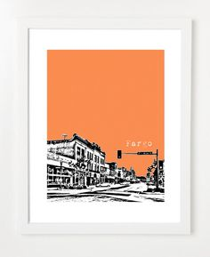 also this one    Fargo North Dakota Poster  City Skyline Art Print  8x10 by birdAve, $20.00