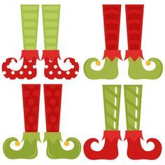 Elf Shoe Set SVG cutting files christmas svg cuts free svgs cute cut files for cricut cute svgs cute christmas clip art