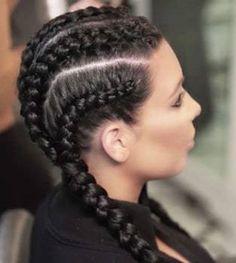 nice Kim Kardashian Cornrow Braid Hairstyle 2016 How To Create