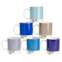 Pantone Mugs - I want four in different shades of blue