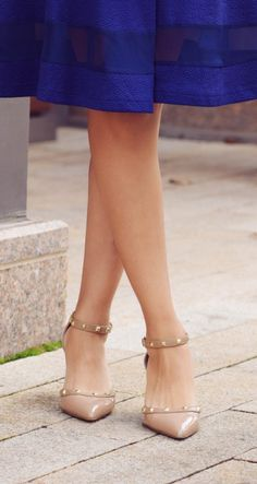 Anneke studded mid heel pump in Adobe | Sole Society