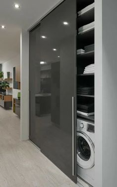Modern Laundry Rooms, Laundry Room Design, Home Room Design, Dream Home Design, Bathroom Interior Design, Kitchen Interior, Laundry Room Organization, Interior Modern, Apartment Kitchen