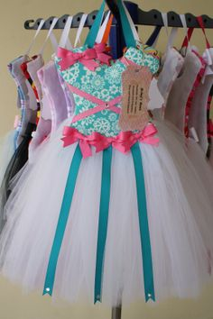 Hey, I found this really awesome Etsy listing at http://www.etsy.com/listing/130217986/tutu-hair-bow-holderpink-teal-and-white