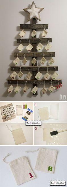 DIY Wall Mounted Advent Calendar.