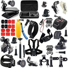 Xtech® HIKING ACCESSORIES Kit for GoPro Hero 4 3+ 3 2 1 Hero4 Hero3 Hero2, Hero 4 Silver, Hero 4 Black, Hero 3+ Hero3+ Hero 3 Silver, Hero 3 Black and for Travel, Traveling, Hiking, Climbing, Camping, Biking, Rappelling, Rock Climbing, Mountain Climbing, Wall Climbing and other Similar Sports Activities Includes: Head Strap Mount + Selfie Stick Monopod Pole + Helmet Harness Mount + Chest Strap Mount + Camera Wrist Mount + 2 J-Hooks + 3 Flat Adhesive Stickers + Flat Surface Mounts + MORE