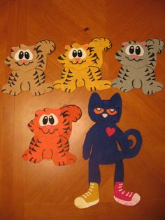 Five Little Kittens with a twist cats, cat activ, board stori, pete, flannelboard, felt board, kittens, preschool, flannel board
