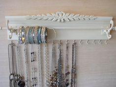 Shabby Chic style Jewelry Organizer.15 Hooks for by Gotahangup