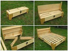 What a great idea! Bed in a box (similar plans avail. for $ at 3dwoodworkingplans)