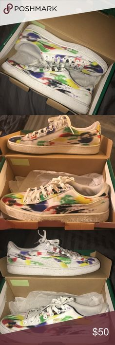 PUMA Sneaks Multicolored PUMA sneakers. Comfy and goes with almost everything. Only worn a couple times Puma Shoes Sneakers