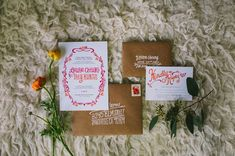 invitation from a macrame inspired shoot