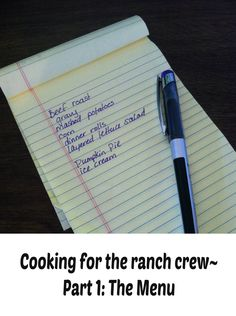 the menu Cooking for the ranch crew branding meal Cooking For A Crowd, Food For A Crowd, Cooking Ice Cream, Ice Cream Pies, Large Crowd, Skillet Dinners, Ranch Life, One Pan Meals, Food Dishes