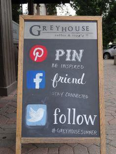 Greyhouse Chalkboard Art // Greyhouse Coffee & Supply Co.