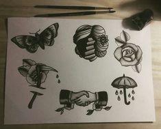 Tattoo flash by Ivan Yourik IG @ivanyourik