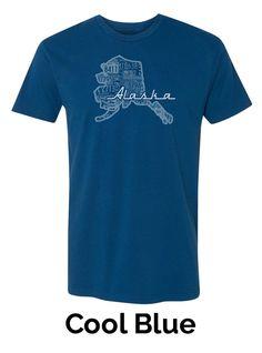 Men's Crew Neck T-Shirt (Single Color) - Alaska