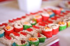 Asian Themed Party-candy treat sushi
