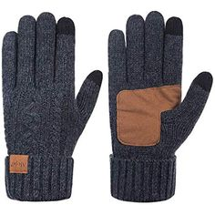 Coffee Transer Mens Touchscreen Texting Driving Ski Waterproof Winter Warm Anti Slip Faux Suede Gloves