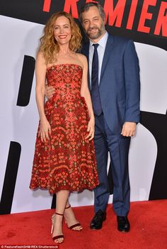 Laugh out loud!Making it a full family affair, she was joined by her comedy juggernaut husband Judd Apatow at the glitzy event, held at Westwood's Regency Village Theatre Leslie Mann, Strapless Dress Formal, Formal Dresses, Family Affair, Regency, Mail Online, Daily Mail, Spotlight, Theatre