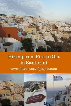 A guide to hiking from Fira to Oia in Santorini. This well marked hiking trail is the best way to see the picturesque villages and stunning coastline of the Greek island of Santorini.