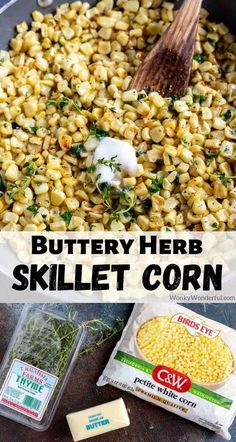 Herb Butter Skillet Corn Recipe