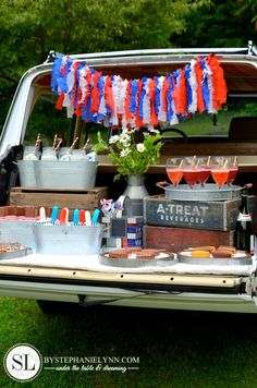 Tailgate Ice Cream Party Idea! So cute :)