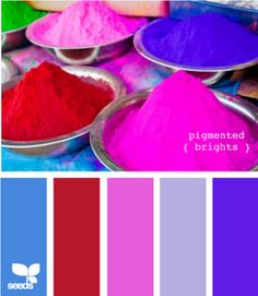 Saturated colors - my favs....clean, bright, pure......where to use in house? do walls in lightest blue and accent with these colors in small amounts with silver acces. and white furniture - lots of white????