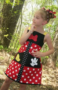 Minnie Dress by KaraJes*Designs. I also love the girl model's face. priceless :)