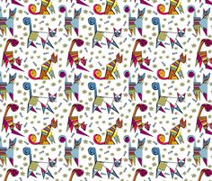 picatsso fabric by onegreyelephant on Spoonflower - custom fabric