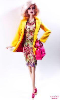 Rainbow Fashion for Fashion Royalty and Silkstone Barbie. $100.00, via Etsy.
