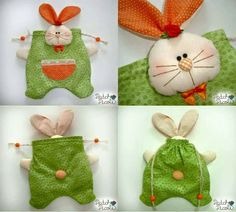 Pin by Andrea on Ötletek Cute Crafts, Diy And Crafts, Bunny Blanket, Rabbit Crafts, Diy Ostern, Crochet Art, Felt Fabric, Sewing Toys, Sewing For Kids