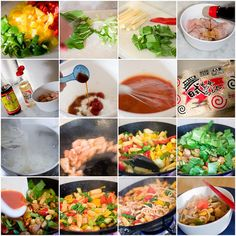 Hover your mouse over each square to see the recipe instructions. More details are the 1st two comments below.    For a close up view, View On Black    1. Peppers, 2. Pak Choi, 3. Veg, 4. Chicken soy sauce, 5. Chicken soy sauce mirin, 6. Adding Soy Sauce Another great idea that needs to be shared.  Learn more at GardenPlantFood.com