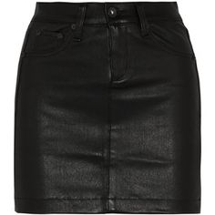 Rag & bone JEAN Leather mini skirt