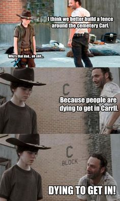 Even Rick Grimes from The Walking Dead can make foot puns! The 19 Greatest Dad Jokes From Rick Grimes Walking Dead Funny, Walking Dad Jokes, Walking Dead Coral, Carl The Walking Dead, Best Dad Jokes, Hilarious, Funny Memes, Twd Memes, Sarcastic Memes
