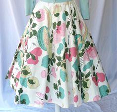 50s Vintage Circle Skirt // Spring Pastels & by ModLoungeVintage, $58.00